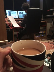 Having a cuppa while Sam does all the hard work :)